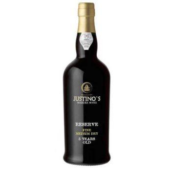Купить Вино Мадера Justinos Fine Medium Dry 5 y.o 0,75 белое Мадера Файн Медиум Драй 5 лет